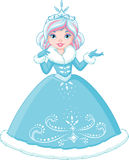 Winter Princess. On a white background Stock Images