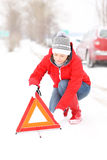 Winter problem Stock Photography