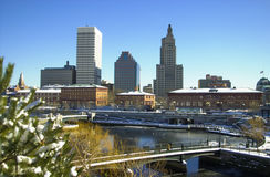 Winter in Providence, Rhode Island. Royalty Free Stock Images