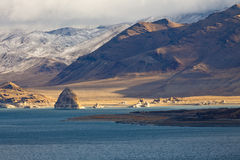 Winter Pyramid Lake Landscape royalty free stock images
