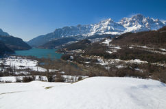 Winter Pyrenees in the Valle de Tena, Aragon Stock Images