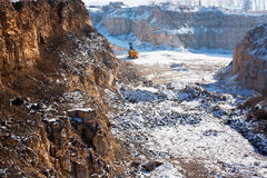 Winter quarry Royalty Free Stock Photos