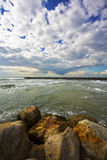 The winter.Quay of Tel Aviv Stock Photography