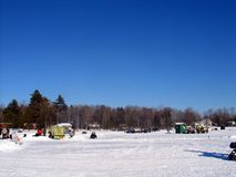 Winter in Quebec. Canada, north America. Royalty Free Stock Photo