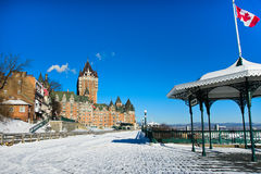 Winter in Quebec City Lizenzfreies Stockbild