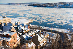 Winter in Quebec City Stock Photography