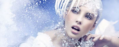 Winter Queen. Nice girl in winter Royalty Free Stock Photography