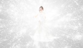 Winter queen. Beautiful winter queen in abstract background Stock Images