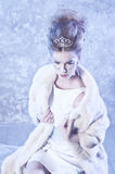 Winter Queen. Beautiful girl in winter Stock Photography