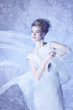 Winter Queen. Beautiful girl in winter Royalty Free Stock Photos