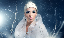 Winter Queen. On black background Royalty Free Stock Photo