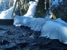 Winter quellen hervor Stockbild