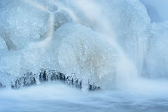 Winter, Rabbit River Cascade Stock Images