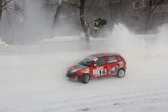 Winter race. In Moscow , Race of stars 2011 Stock Photo