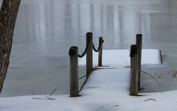 Winter Raft Royalty Free Stock Photo