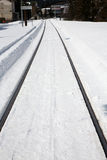 Winter rail line Stock Images