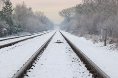 Winter railroad Stock Image