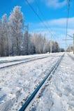 Winter Railroad. Stock Image