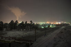 Winter railroad Royalty Free Stock Images
