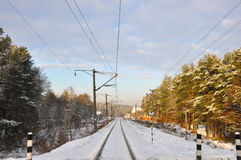Winter railroad line Stock Image