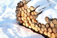 Winter rails Stock Photo