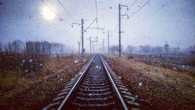 Winter Railway Royalty Free Stock Photography