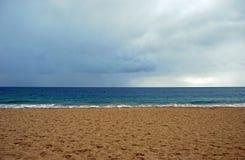 Winter rain off the Main Beach, Laguna Beach, California. Stock Images