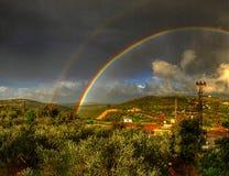Winter Rainbow stock image