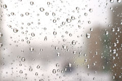 On a winter raining day Royalty Free Stock Photography