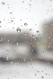 On a winter raining day Royalty Free Stock Photo
