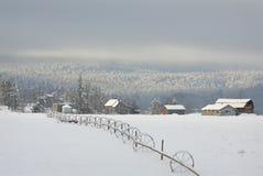 Winter Ranch Snow Stock Photos