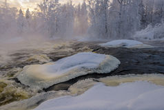 Winter rapid Royalty Free Stock Photos