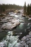 Winter rapids stock images