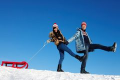Winter recreation Stock Photo