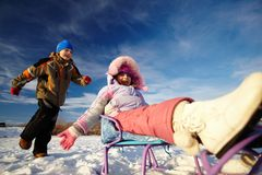 Winter recreation Royalty Free Stock Image
