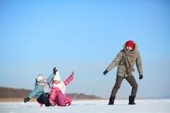 Winter recreation Stock Image