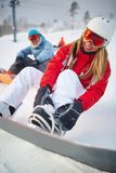 Winter recreation Stock Photos