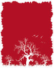 Winter red. Winter scene illustration royalty free illustration