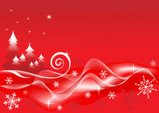 Winter red  background. Stock Image