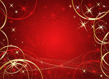 Winter red background Royalty Free Stock Image