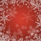 Winter red background Stock Image