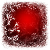 Winter red background Stock Photos