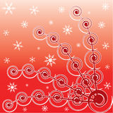Winter red background. Royalty Free Stock Image