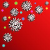 Winter red background, Christmas or New year wallpaper Royalty Free Stock Photo