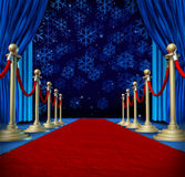 Winter Red Carpet Background Royalty Free Stock Photos