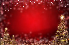 Winter red christmas tree background Royalty Free Stock Photos