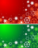 Winter red and green backgrounds. Christmas. Background with snowflakes Stock Photo