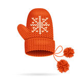 Winter Red Mitten. Vector Royalty Free Stock Photography