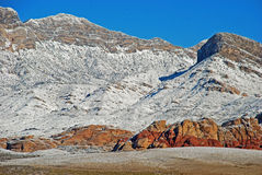 Winter in Red Rock Canyon near Las Vegas. Nevada. Royalty Free Stock Photo