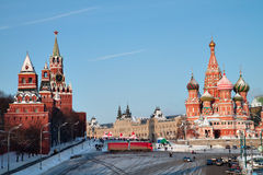 Winter Red square Royalty Free Stock Images
